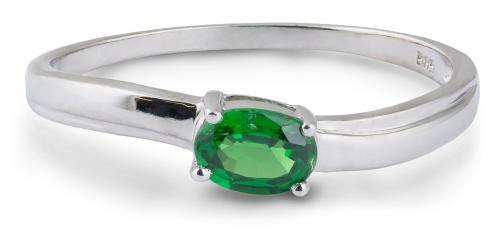 Tsavorite Garnet Solitaire Ring