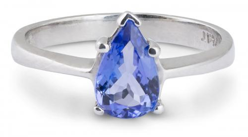 Tapered Shank Tanzanite Solitaire Ring