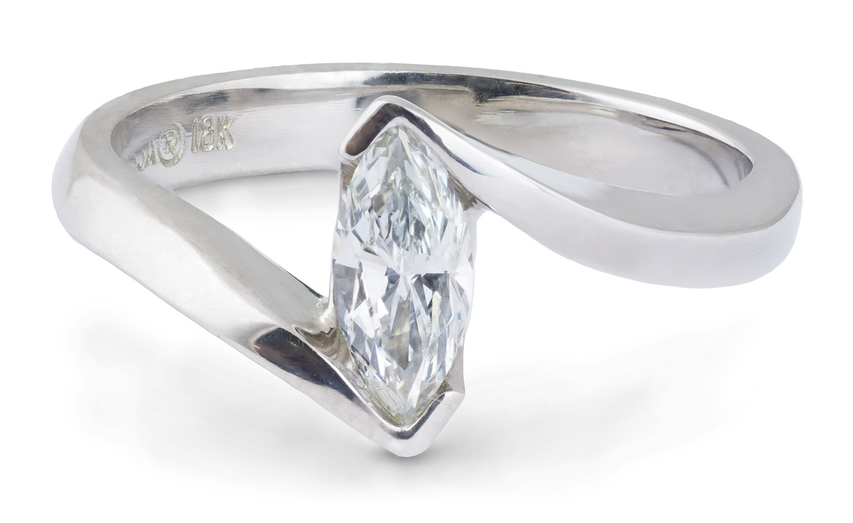 Marquise Diamond Solitaire Engagement