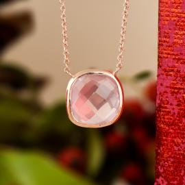 Rose gold and rose quartz necklace