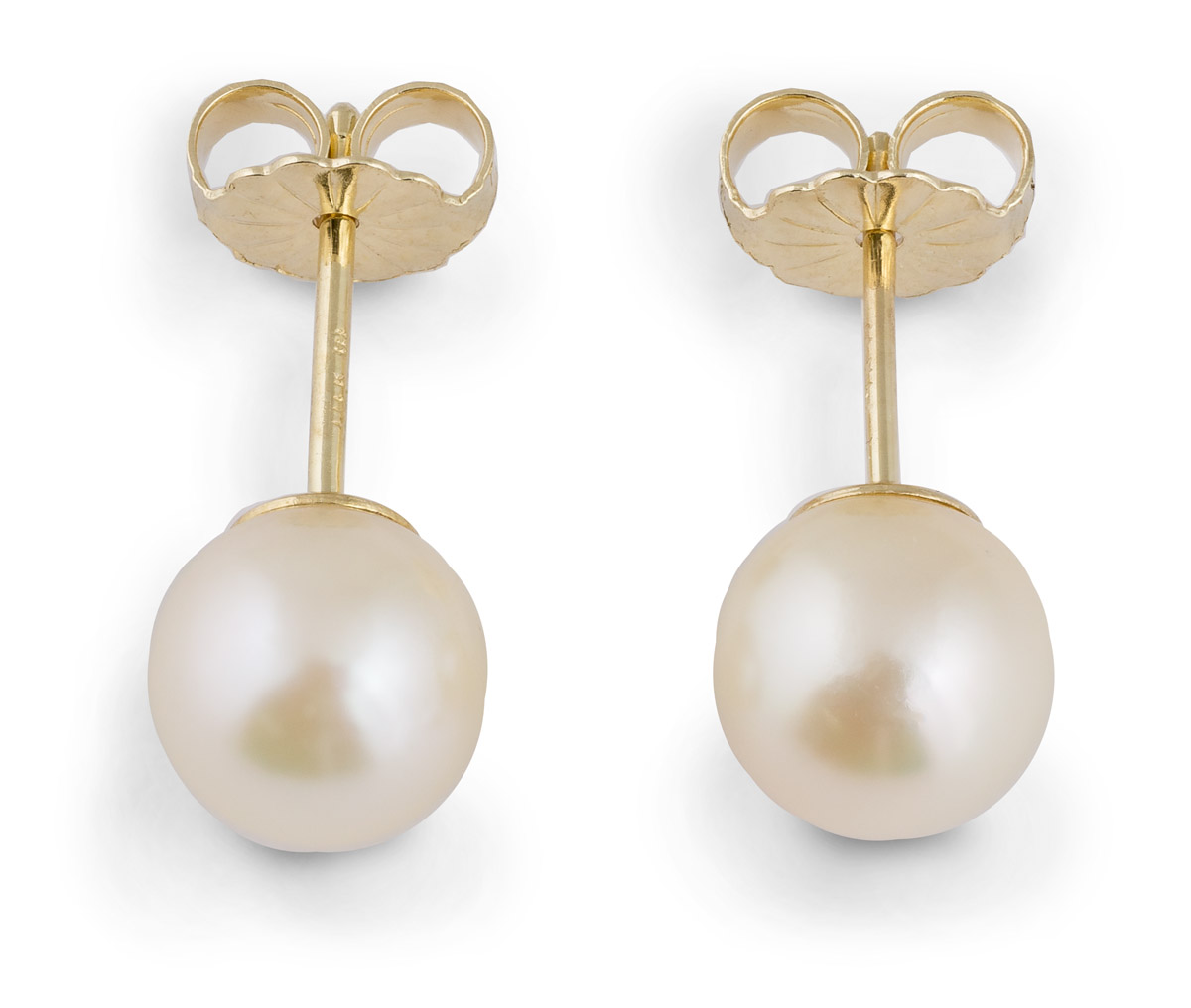 Akoya Pearl Stud Earrings - Top
