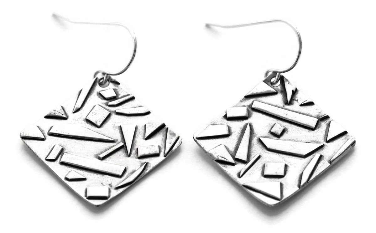 e2f8a9a04 Geometric Dangle Earrings - Tilted Geometric Dangle Earrings - Angled