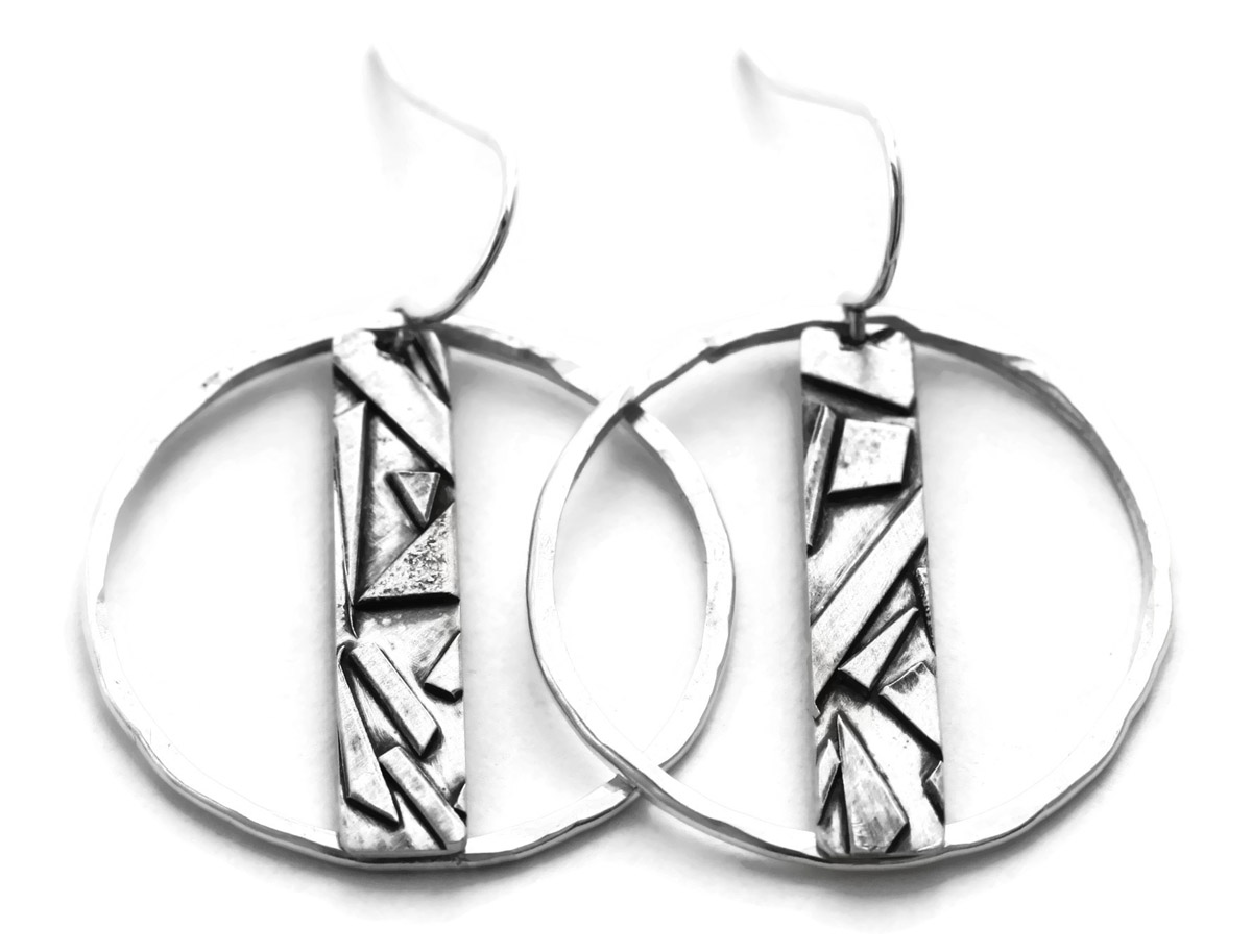 d65ee54fb Jen Lesea : Geometric Bar and Circle Earrings : Jen Lesea Designs ...