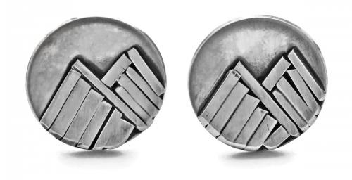 Double Mountain Stud Earrings