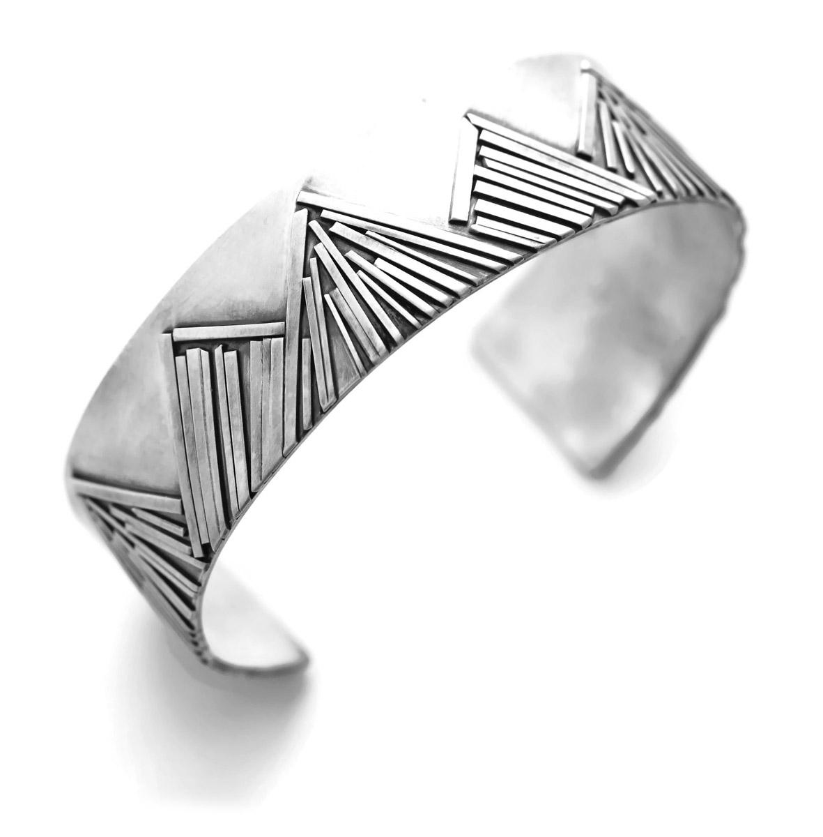Mountain Range Cuff Bracelet - Angled