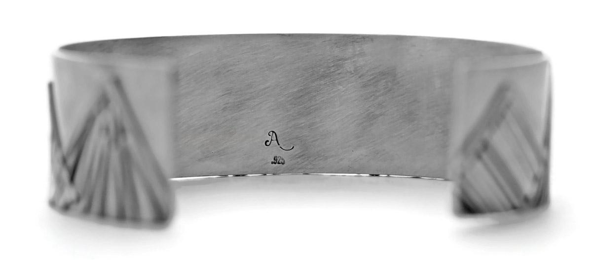 Mountain Range Cuff Bracelet - Back