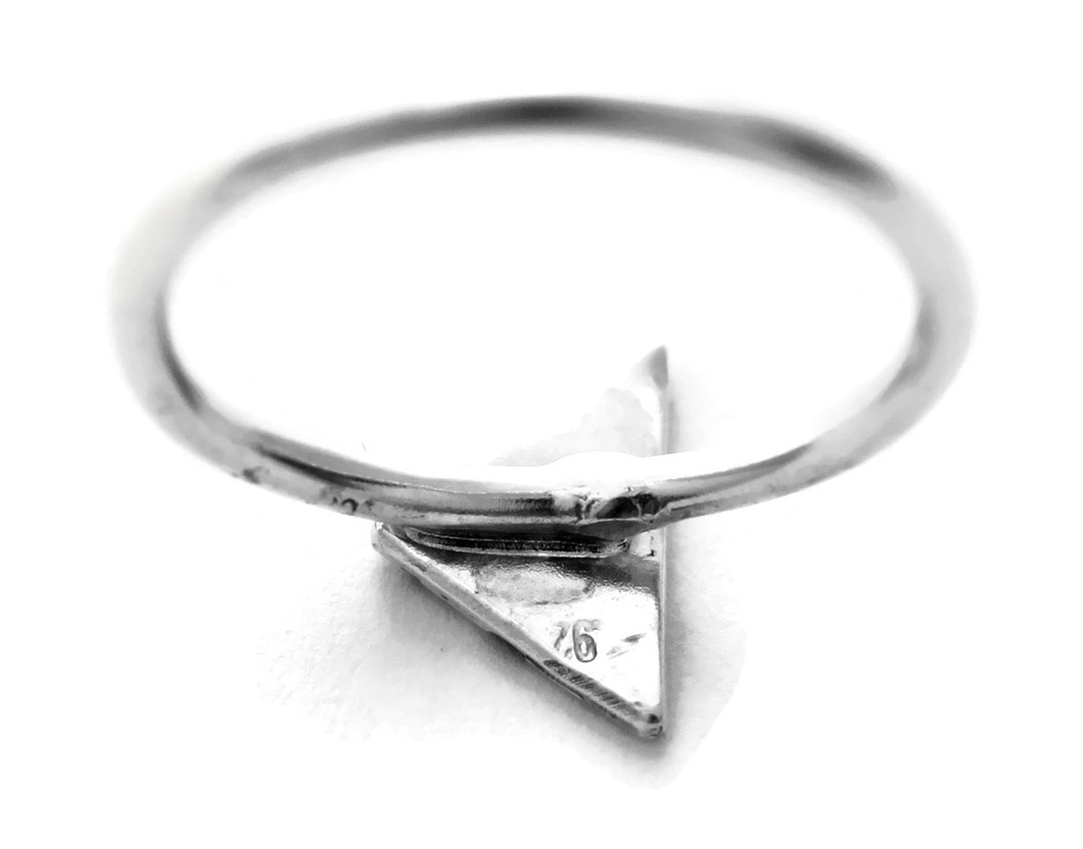 Geometric Triangle Ring - Back
