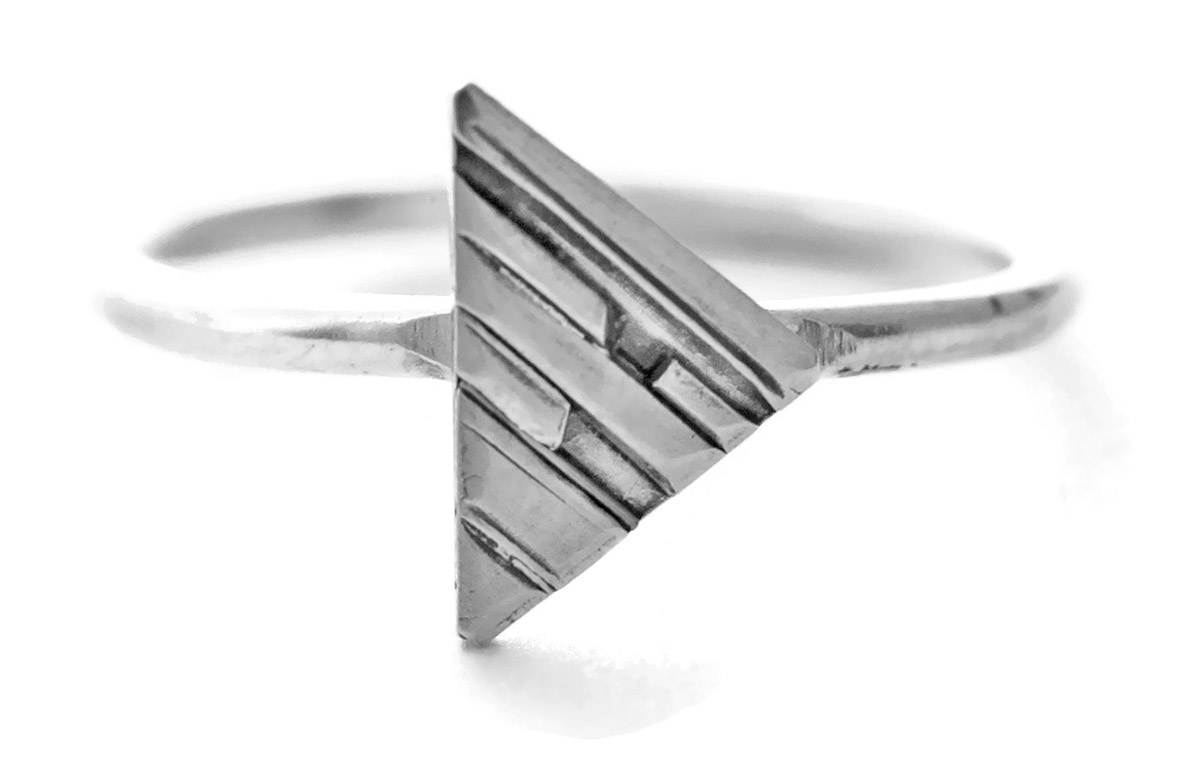 Geometric Triangle Ring - Front
