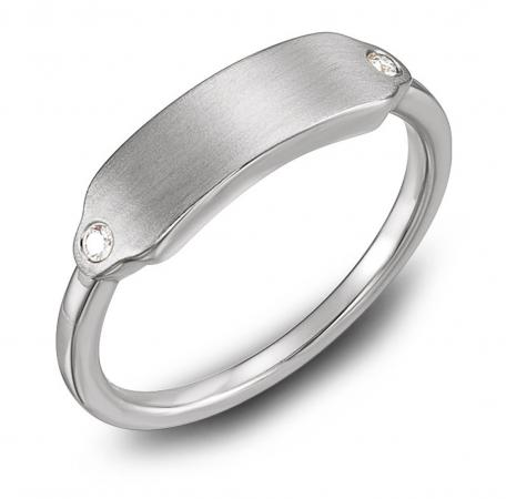 Personalized Engravable Diamond Ring