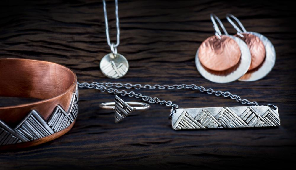 Jen Lesea Designs featuring rustic and abtract handmade jewelry