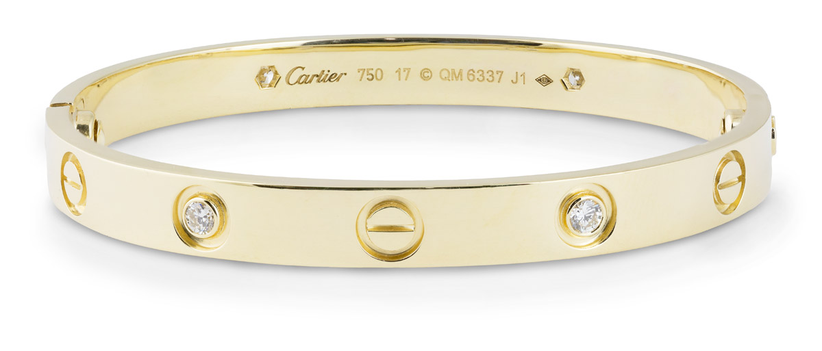 Cartier : LOVE Bracelet Yellow Gold with Diamonds