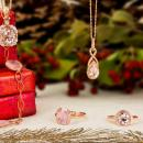 Rose gold and morganite jewelry gifts 2017