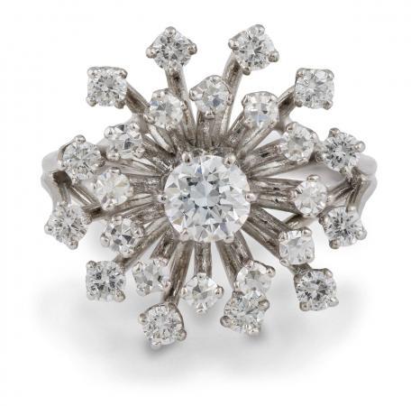 Vintage Diamond Cluster Cocktail Ring