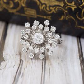 Vintage Diamond Cluster Cocktail Ring