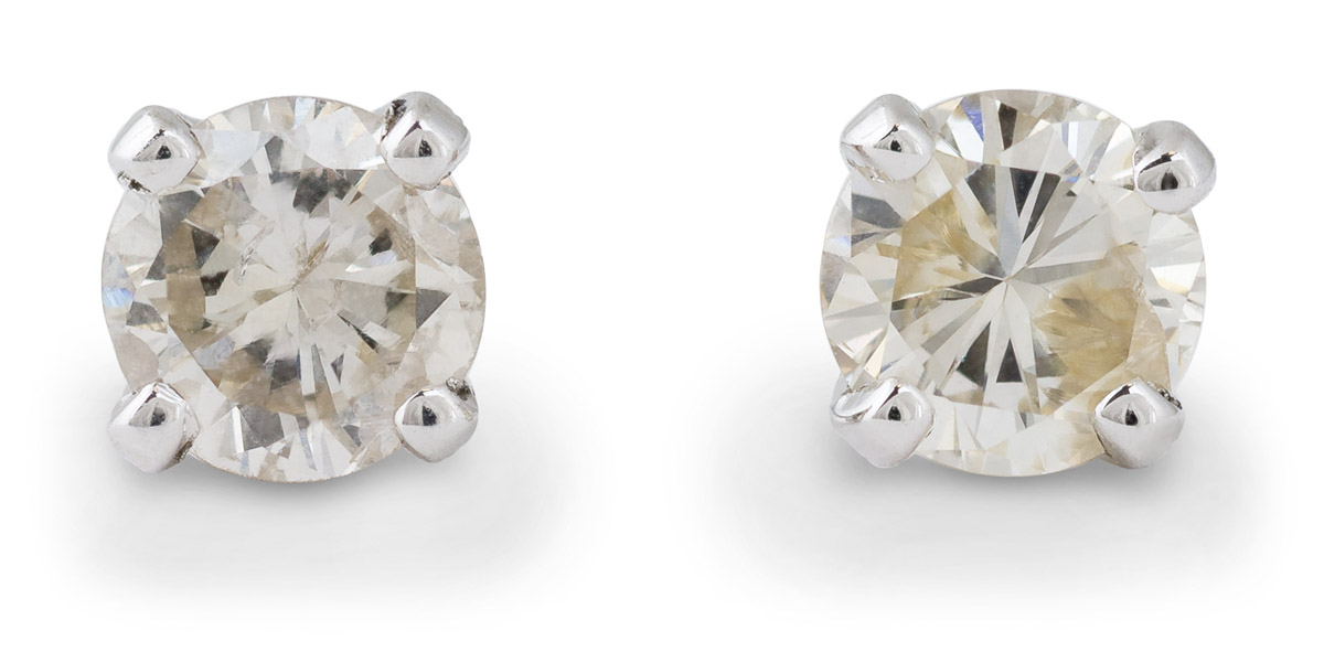 Medium Diamond Stud Earrings