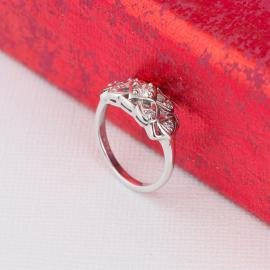 Vintage Filigree Diamond Ring - Side