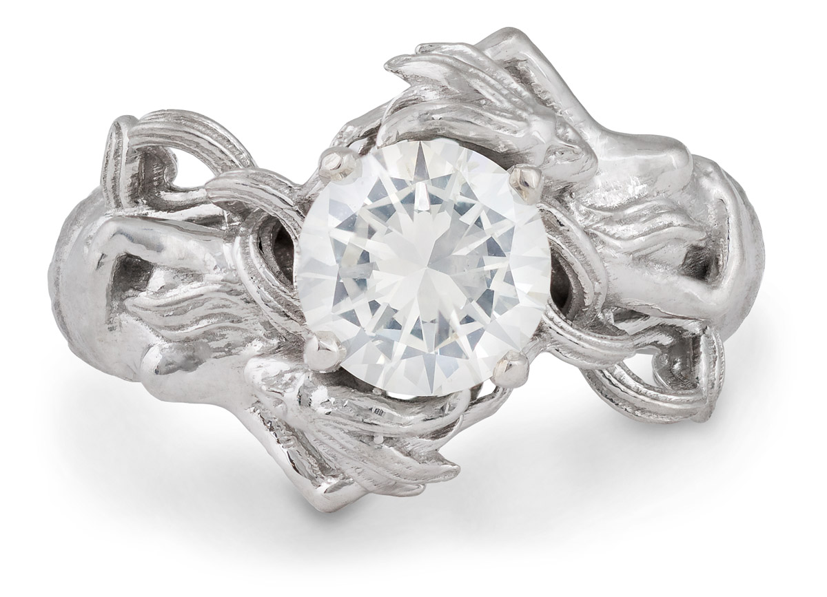 Mermaid Diamond Solitaire Ring