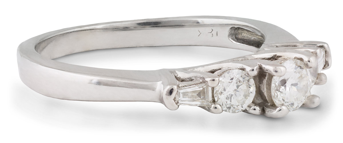 Five Stone Diamond Engagement Ring - Side