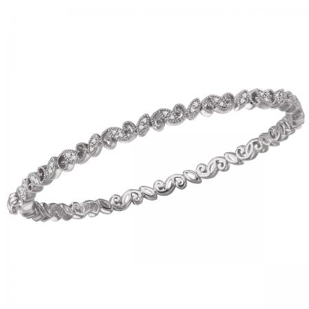 Diamond Filigree Bangle with Clasp