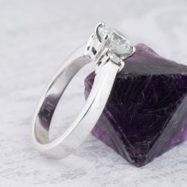 Tapered Shank Three Stone Diamond Engagement Ring - 1