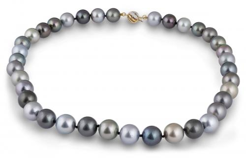 Tahitian Black Pearl Strand Necklace