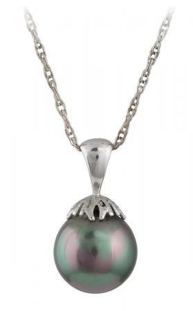 Tahitian Black Pearl Drop Pendant