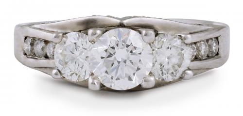 Diamond Engagement Ring with Diamond Accents