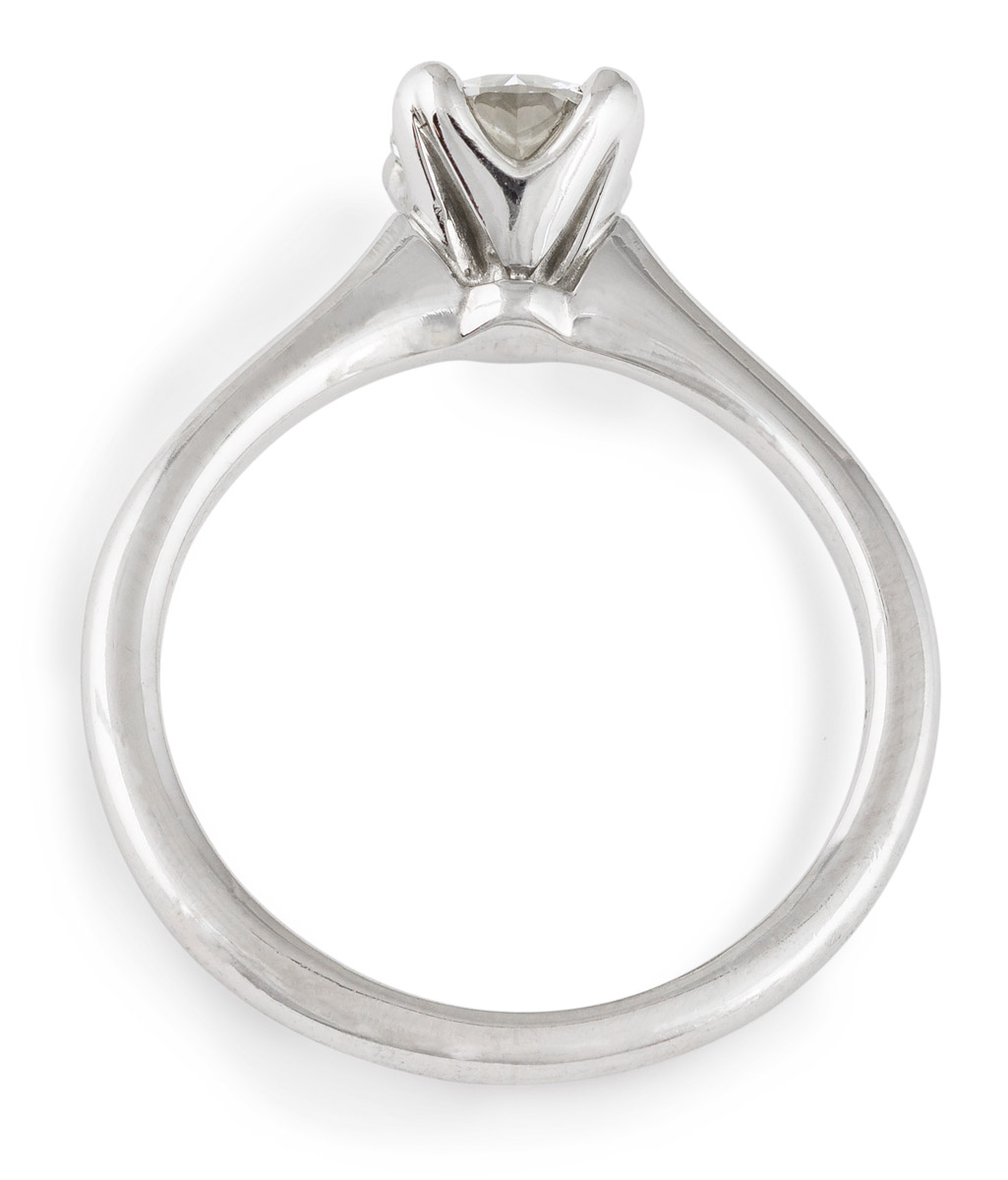 Simple Solitaire Diamond Engagement Ring - Top