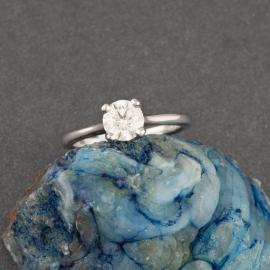 Simple Solitaire Diamond Engagement Ring - 1