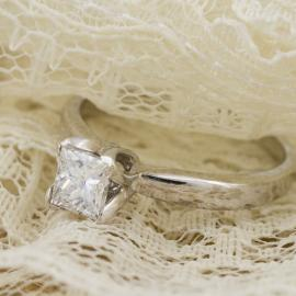 Princess Diamond Solitaire Engagement Ring - 2