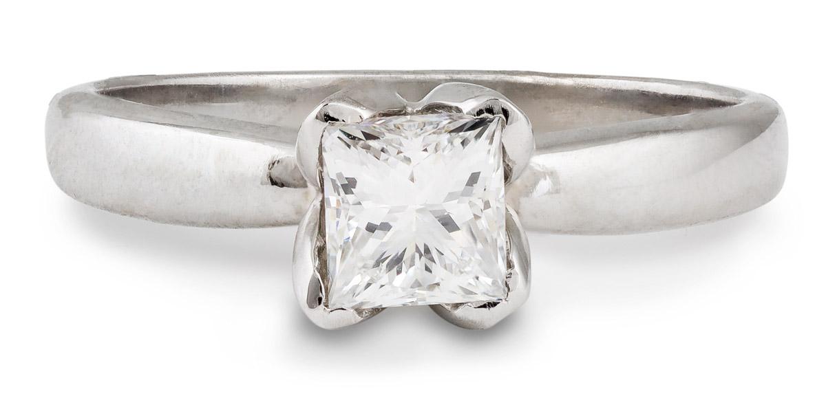 Princess Diamond Solitaire Engagement Ring