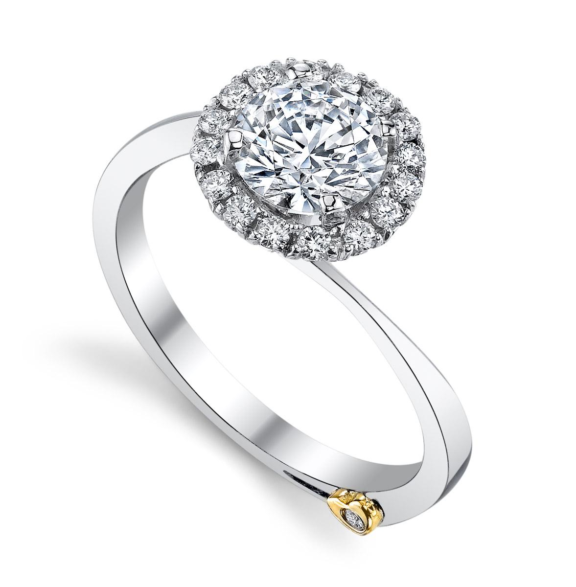 Mark Schneider : Angelic Contemporary Engagement Ring - tilt