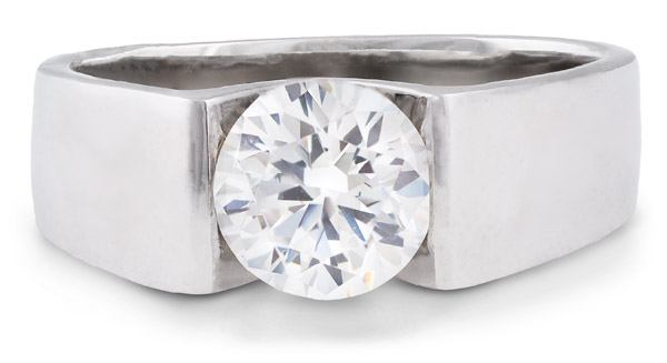 Mark Schneider : Blissful Contemporary Engagement Ring