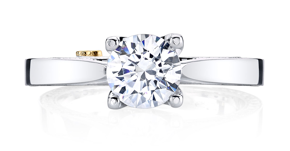 Mark Schneider : Crave Contemporary Engagement Ring - Front