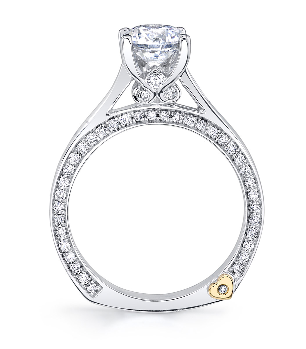 Mark Schneider : Crave Contemporary Engagement Ring - Top