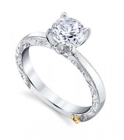 Mark Schneider : Lace Engagement Ring