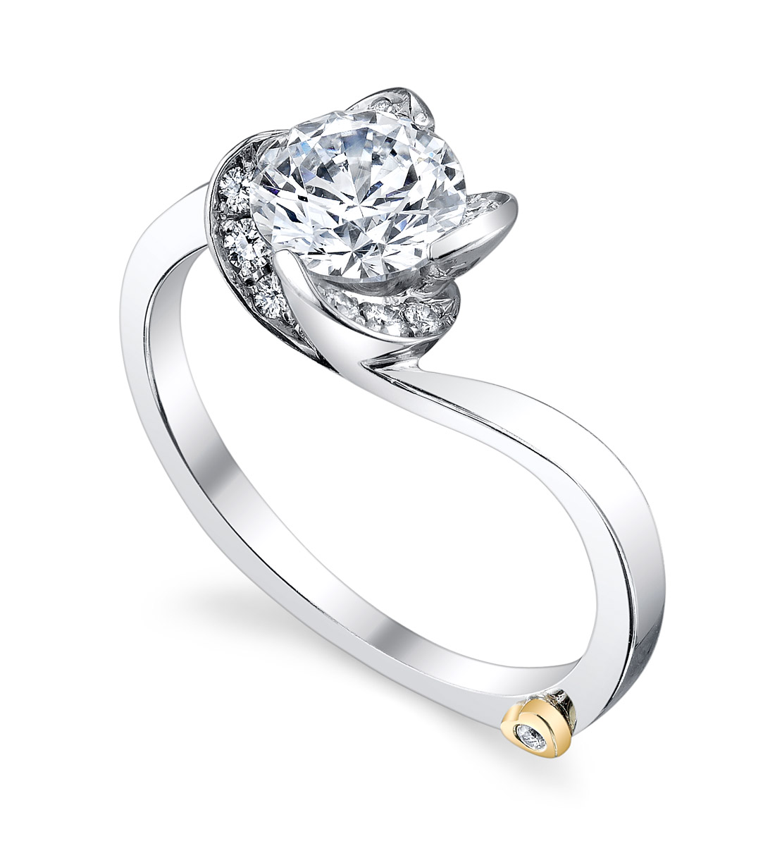 Mark Schneider : Rose Engagement Ring - Tilt