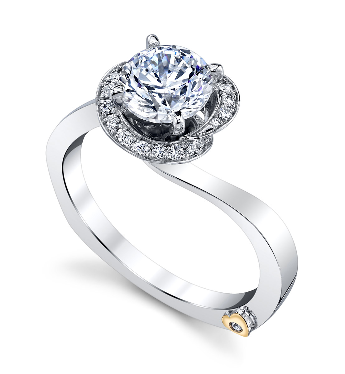 Mark Schneider : Fascination Contemporary Engagement Ring