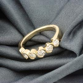 Five Stone Diamond Band - 1