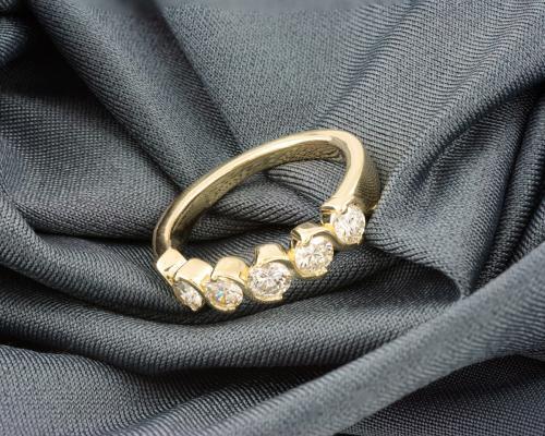 Five Stone Diamond Band - 1