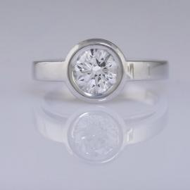 Bezel Diamond Solitaire Engagement - 1