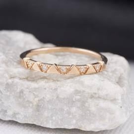 Triangle Pattern Diamond Band - 1