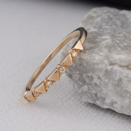 Triangle Pattern Diamond Band - 3