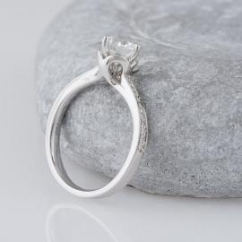 Scalloped Accent Engagement Ring with Diamonds - 2