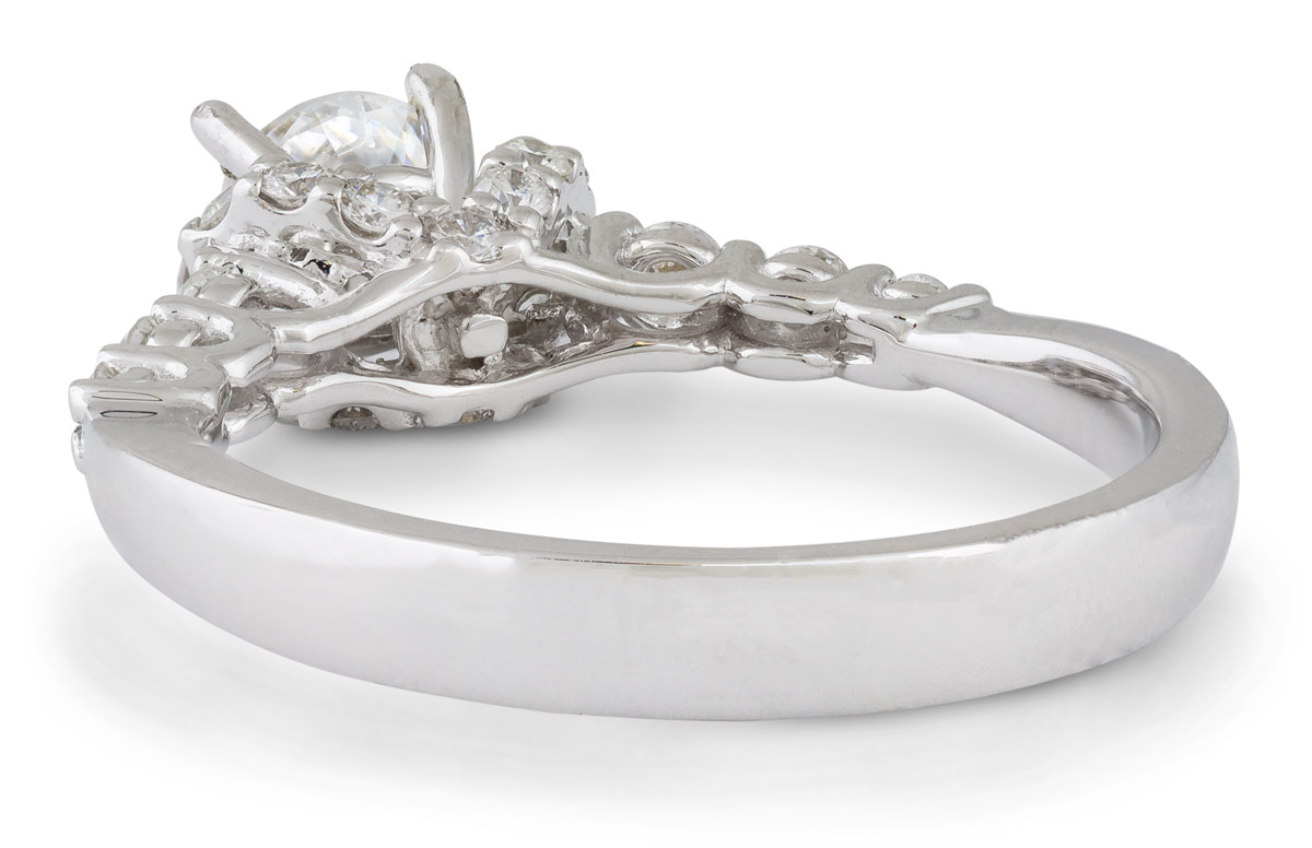 Diamond Accented Engagement Ring - Back