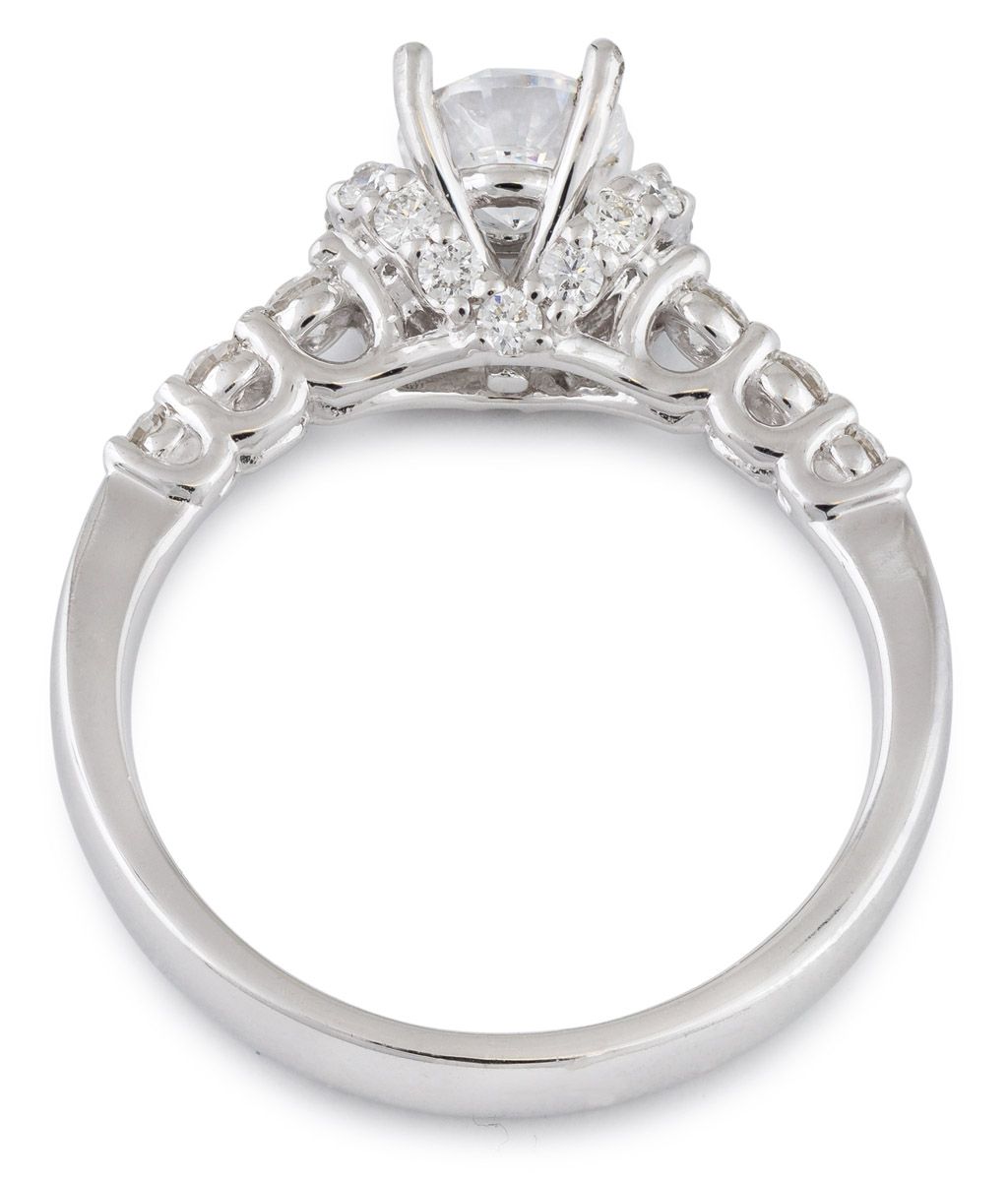 Diamond Accented Engagement Ring - Top