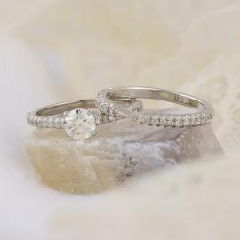 Custom Diamond Wedding Set