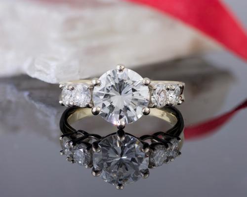 Custom Five Stone Diamond Engagement Ring