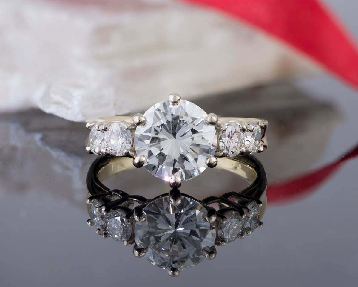 Custom Five Stone Diamond Engagement Ring