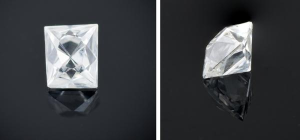French cut diamond example